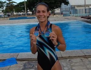 Bruna Brunett, atleta de Saltos Ornamentais (Foto: Lucas Barros / Globoesporte.com/pb)