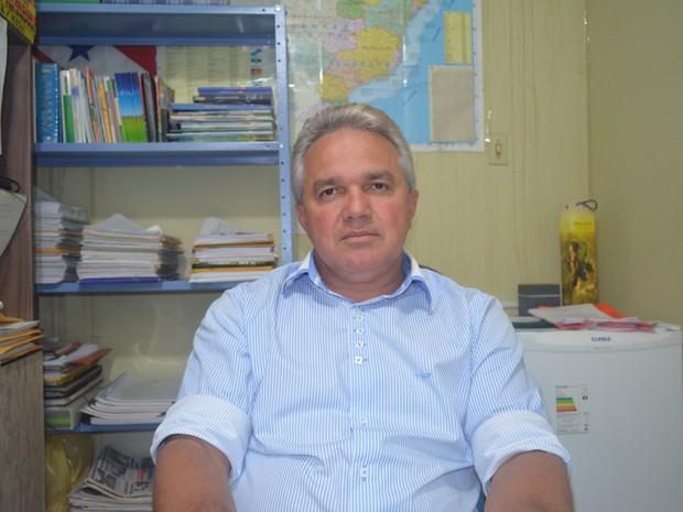 Primeiro prefeito da história de Mojuí (Foto: Joab Ferreira/G1)