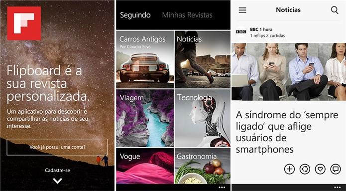 Flipboard é uma revista digital personalizada que acaba de ganhar uma versão para Windows Phone (Foto: Divulgação/Windows Phone Store)