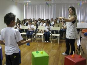 Escola Dagmar (Foto: Nathália Duarte/G1)