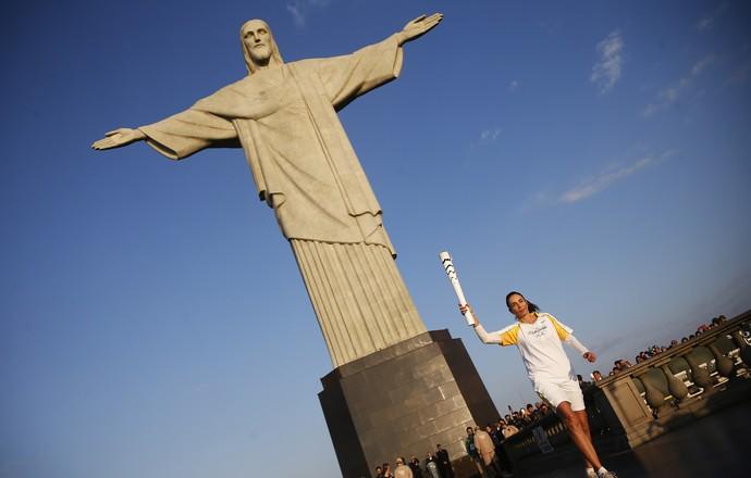 Isabel no Cristo Redentor Rio 2016 (Foto: Rio 2016/Fernando Soutello)
