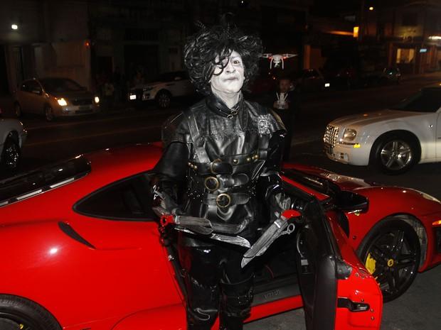 Dodô, vocalista do grupo Pixote, em festa em São Paulo (Foto: Celso Tavares/ EGO)