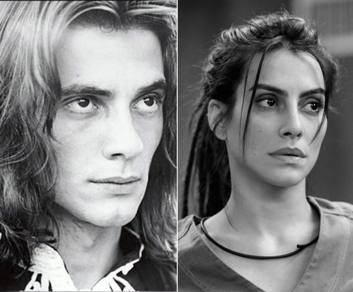 Fábio Jr. e Cleo Pires: parecidos? (Foto: TV Globo)