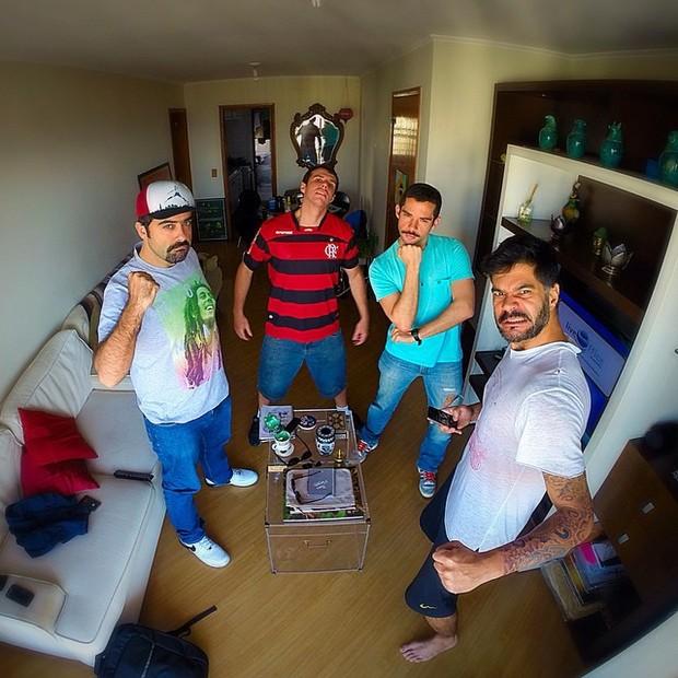 Franco Fanti com o pessoal do Hermes e Renato (Foto: Instagram / Reprodução)