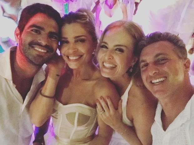 Grazi Massafera e o namorado, Angélica e Luciano Huck (Foto: Reprodução/Instagram)