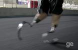 Biamputado é campeão com próteses de fibra de carbono (Reprodução)