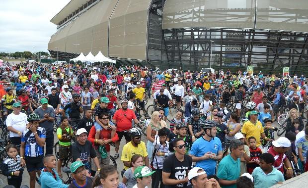 Pedal Centro América reúne mais de 1000 pessoas em Cuiabá (Foto: Marketing/ TVCA)