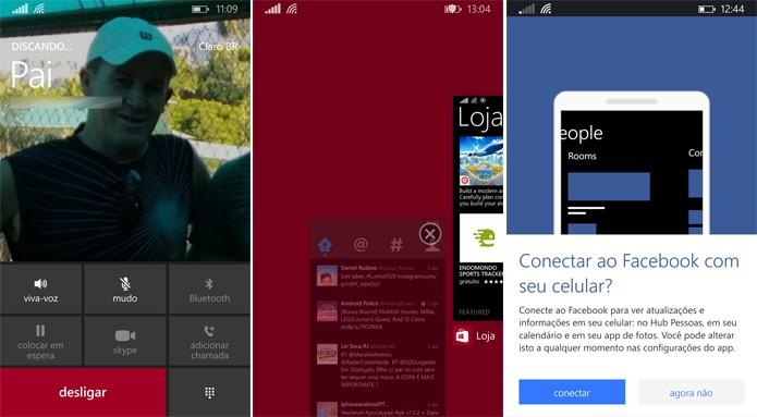 Windows Phone também teve mudanças na tela de discagem, gerenciador de tarefas e integração com o Facebook (Foto: Reprodução/Elson de Souza)