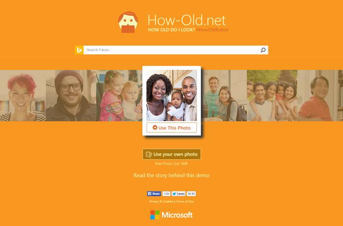 Site da Microsoft identifica idade e gênero de pessoas em imagens (Foto: Reprodução/Microsoft)