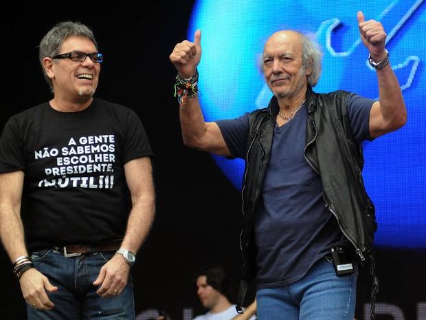 Erasmo Carlos e Ultraje a Rigor tocam juntos no segundo show deste sábado (26) do Palco Sunset  (Foto: Alexandre Durão/G1)