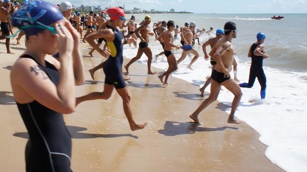 Travessia Batalha Naval do Riachuelo em João Pessoa (Foto: Cadu Vieira)
