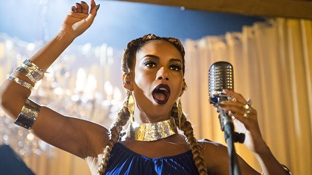 Michele canta em uma boate em NY (Foto: João Miguel Júnior/Globo)