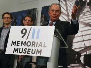 Ex prefeito de Nova York, Michael Bloomberg fala em inauguração do museu sobre o 11 de setembro (Foto: REUTERS/Shannon Stapleton)