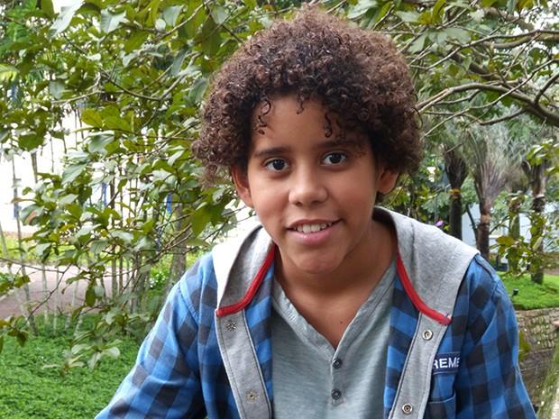 Cauê Campos tem apenas 12 anos e já tem planos de carreira (Foto: A Grande Família / TV Globo)