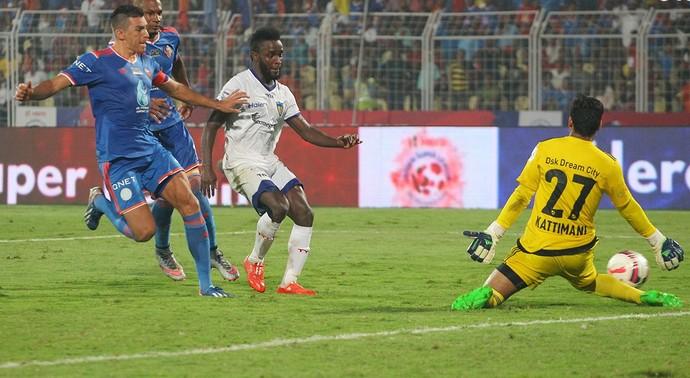 Mendoza gol do título Chennaiyin (Foto: Divulgação site oficial ISL)