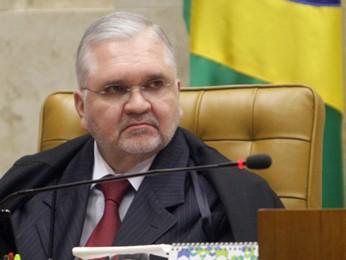 O procurador-geral da República, Roberto Gurgel, durante sessão no julgamento do mensalão (Foto: Fellipe Sampaio/SCO/STF)