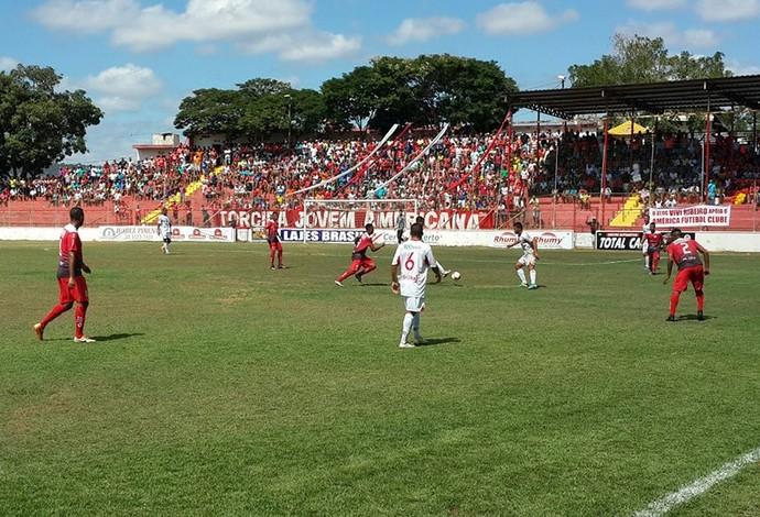 América em jogo do Módulo II do Mineiro. (Foto: Alan Souza/América TO)