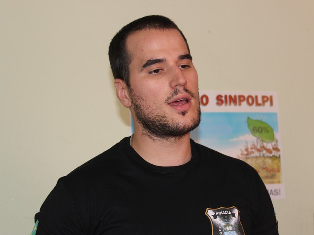 Delegado Mateus Zanatta (Foto: Juliana Barros/G1)