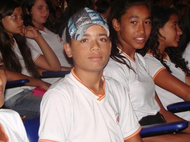 Lucas Mendes, de 13 anos, (Foto: Michelly Oda/G1)