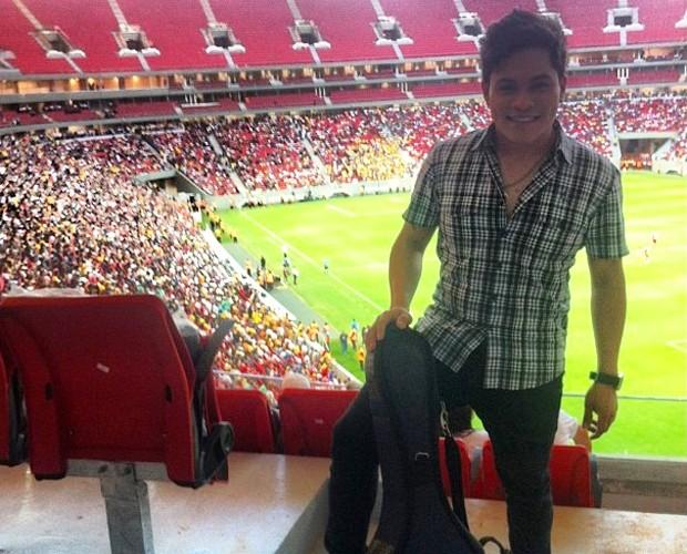 Pedro Eduardo no Estádio Mané Garrincha (Foto: Reprodução/Arquivo Pessoal)