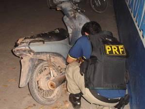 Moto foi roubada em Belém em 2008 (Foto: Divulgação/ PRF)