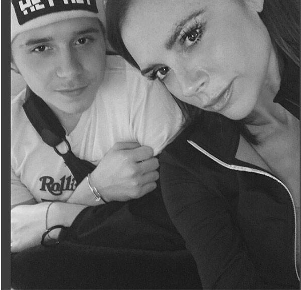 Victoria e Brooklyn Beckham (Foto: Reprodução/Instagram)