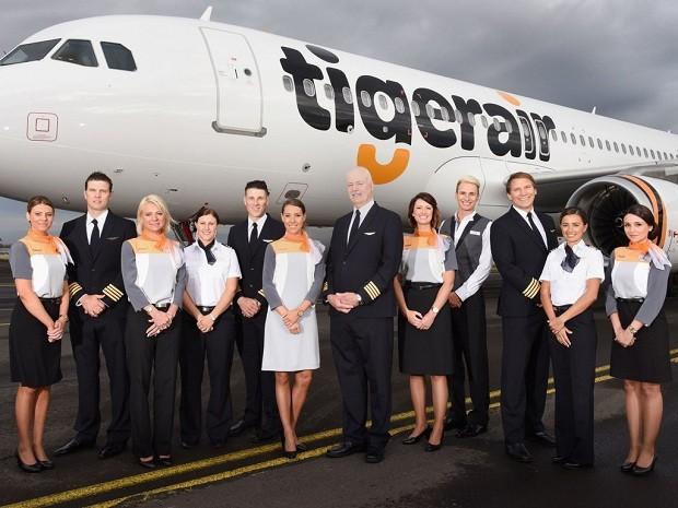 Os uniformes da Tigerair Austrália (Foto: Divulgação)