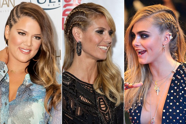 Khloe Kardashian, Heidi Klum e Cara Delevingne (Foto: Getty Images / AFP / Getty Images)