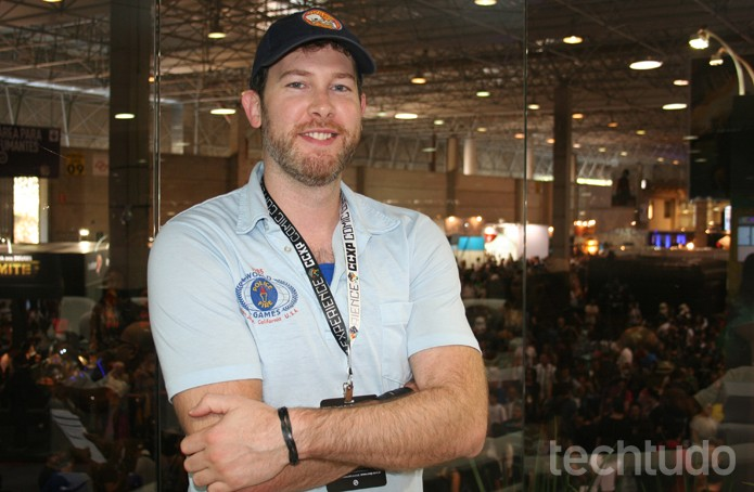 Cameron Davis foi o artista responsável por boa parte dos Guitar Hero (Foto: Felipe Vinha/TechTudo)