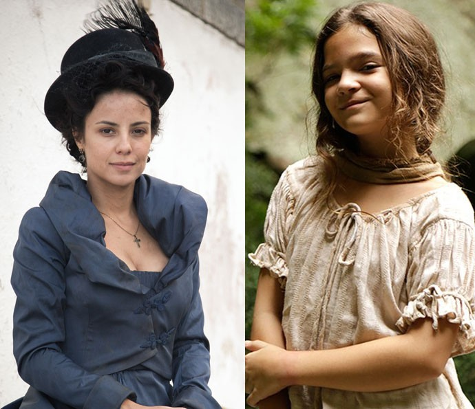 Joaquina: papel de Andrea Horta na segunda fase, e de Mel Maia na primeira (Foto: Fabiano Battaglin / Gshow)