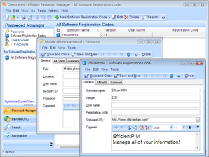 Interface Efficient Password Manager