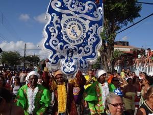 Estandarte do bloco 'Os Irresponsáveis', que sai na Quarta de Cinzas no Recife (Foto: Luna Markman/G1)