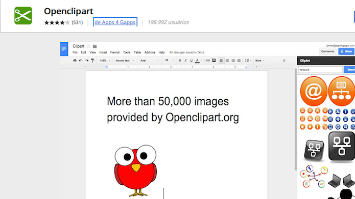 Tenha mais de 50.000 imagens com o Openclipart (Foto: Reprodução/Edivaldo Brito)