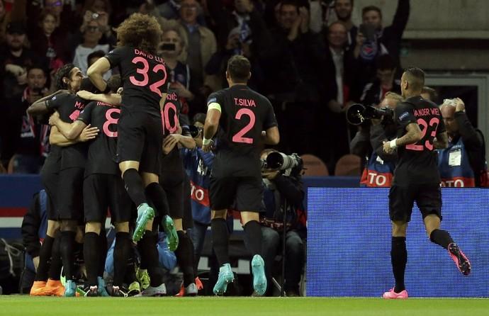 Gol Di María PSG x Malmo (Foto: Reuters)