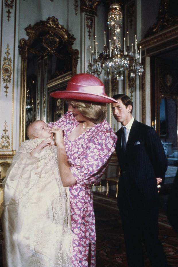 Batizado do príncipe William, em 4 de agosto de 1982 (Foto: Getty Images)