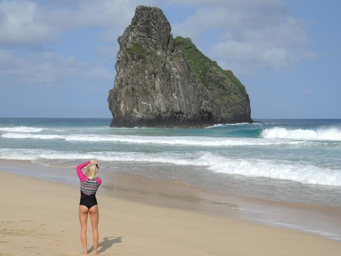 Tatiana Weston-Webb havaiana-gaúcha Noronha Nas Ondas surfe (Foto: David Abramvezt)