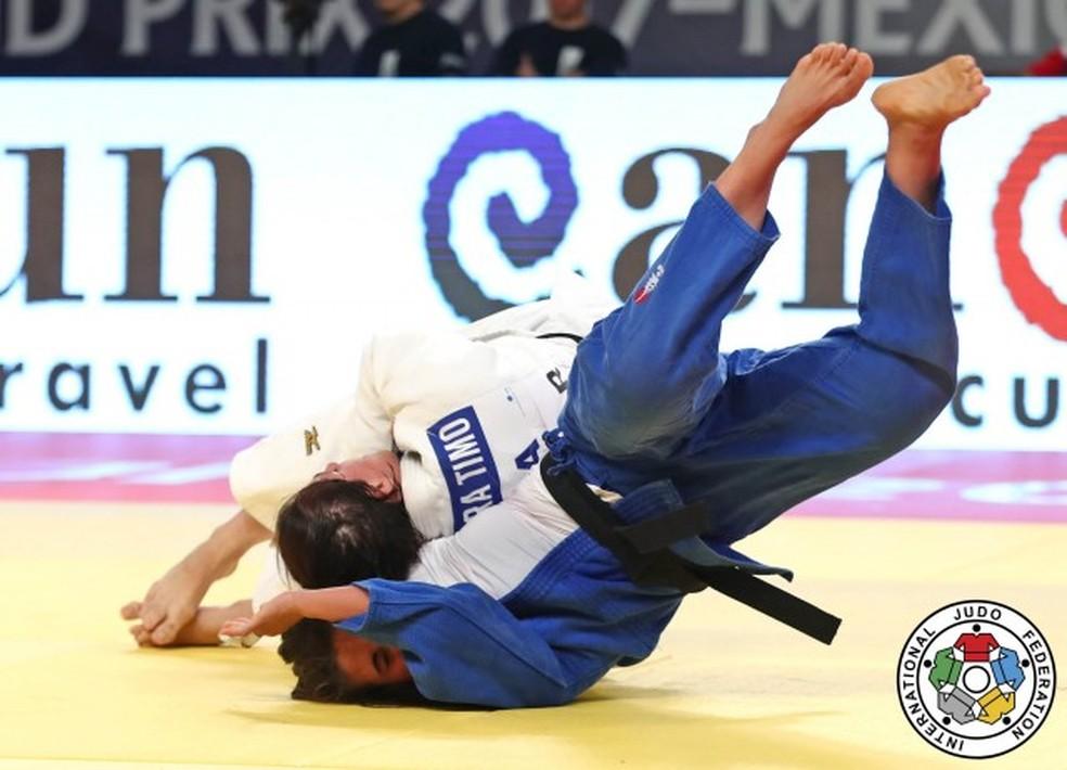 Bárbara Timo é derrotada e fica em quinto lugar no torneio de judô (Foto: IJF)