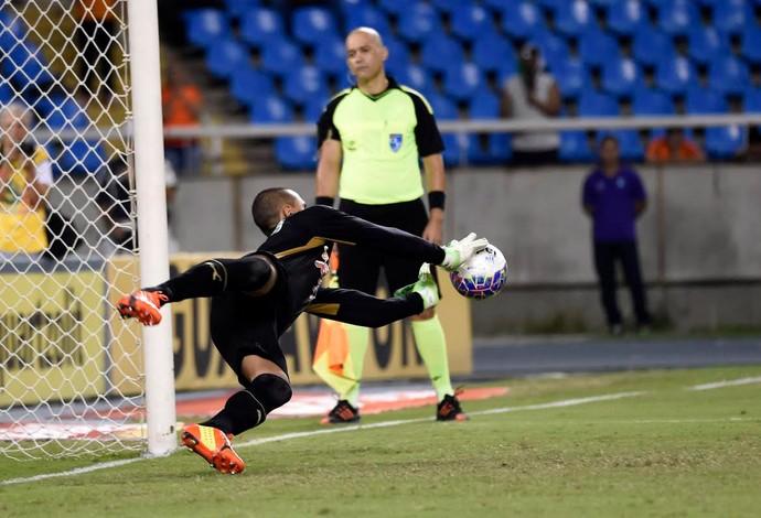 Botafogo x Fluminense, Renan penalti 2 (Foto: André Durão)