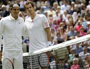 Roger Federer tênis Wimbledon final Andy Murray (Foto: AP)