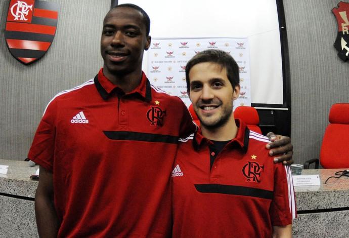 Jerome Meyinsse Nicolás Laprovittola flamengo basquete (Foto: Alexandre Vidal/Fla Imagem)