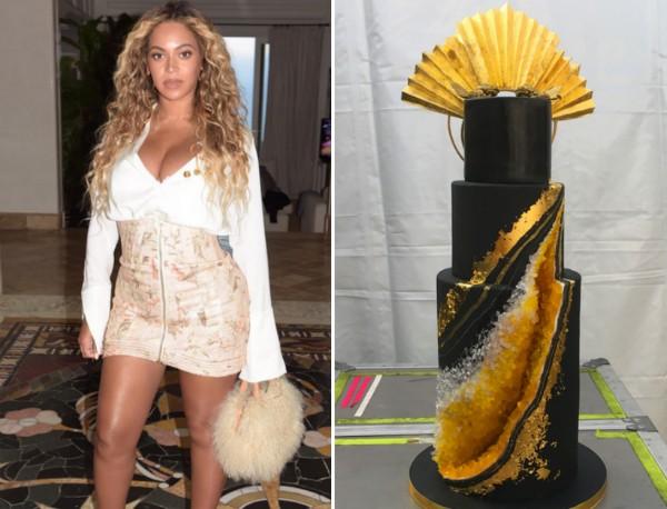 A cantora Beyoncé e seu bolo de aniversário (Foto: Instagram)