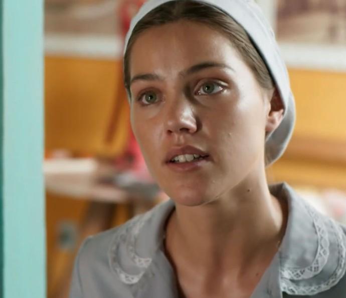 Alina mandou a real para o Uood (Foto: TV Globo)