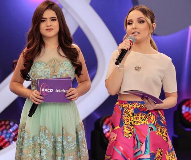 Maisa Silva e Larissa Manoela (Foto: Rafael Cusato/Brazil News)