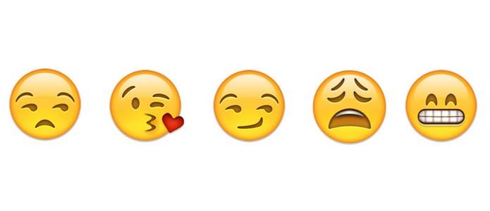 Emoji mandando beijo, cansado e confiante estão no Top 10 (Foto: Reprodução/Emoji)