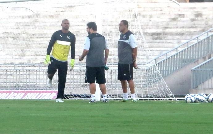 Jefferson Treino Botafogo (Foto: Marcelo Baltar)