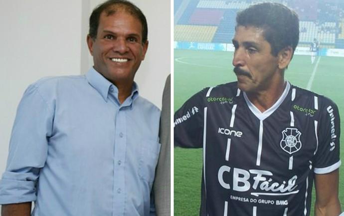 Geovani Silva e Arildo Ratão, craques do passado de Desportiva e Rio Branco, serão homenageados na exposição (Foto: Editoria de arte)