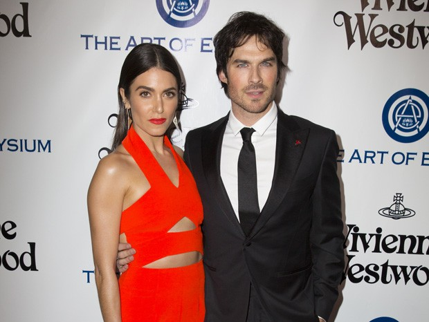 O casal Nikki Reed e Ian Somerhalder (Foto: Alison Buck/Getty Images)