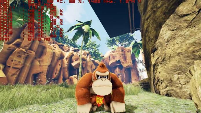 O visual de Donkey Kong na Unreal Engine 4 impressiona bastante (Foto: Reprodução/YouTube)