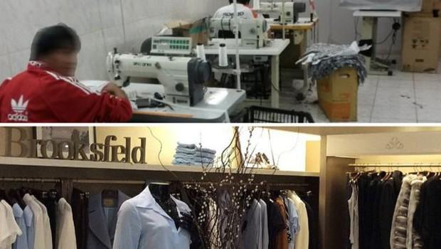201ca2a5449eb Cinco trabalhadores bolivianos foram encontrados em oficina com produção  destinada à marca Brooksfield Donna (Foto