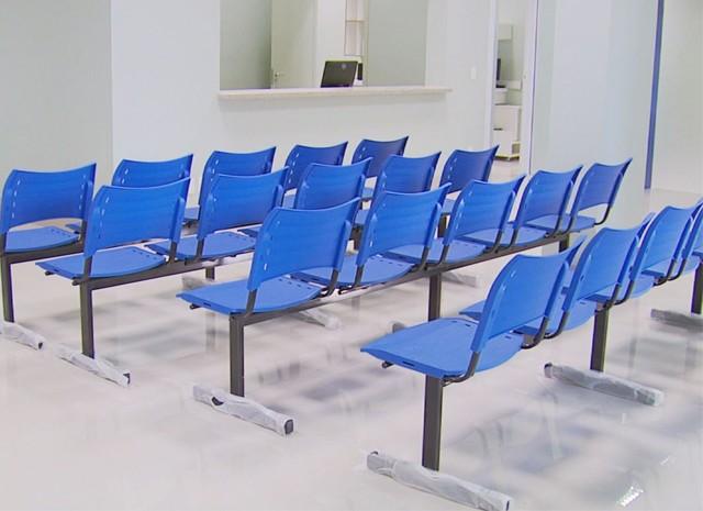 Prédio possui toda estrutura, mas não recebe pacientes em Alfenas (Foto: Reprodução EPTV)